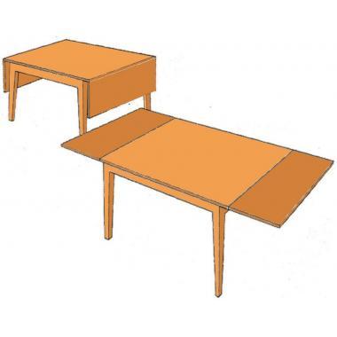 Петля для столов - «книжка» с опускающимися «крыльями»