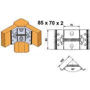 Угловая косынка для царги 85 х 70