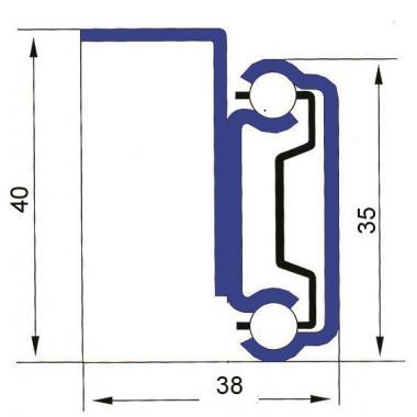 Стальной оцинкованный механизм (Крепление с внутренней стороны царги)