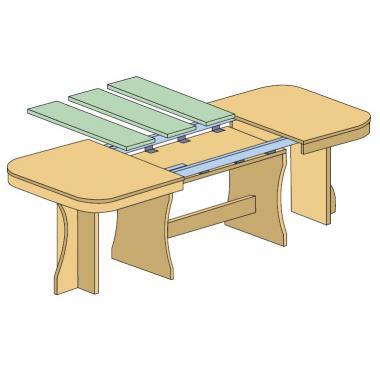 Механизмы с синхронным раздвижением (тросик)