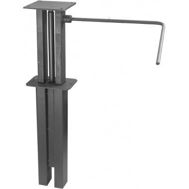 Механизмы с гидравлическим приводом изменения высоты стола на одной опоре