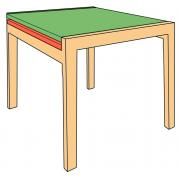 Механизм раздвижения столешницы (Крепление: внутренняя сторона царги)