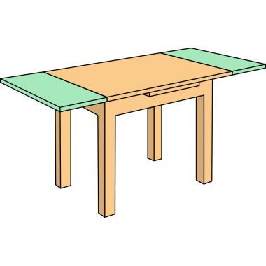 Механизм для столов с 2-мя торцевыми выдвижными вставками