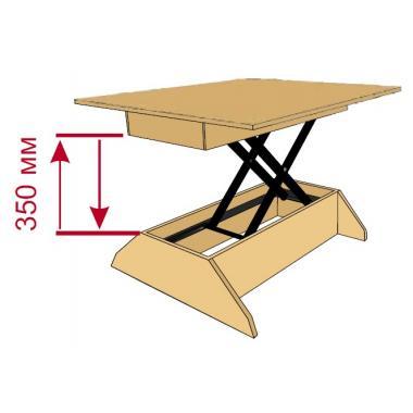 Механизм изменения высоты для стола-трансформера